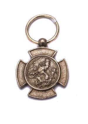 Miniatuur bronzen leeuw