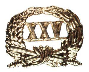 Jaarkrans Officiers Dienstkruis XXV