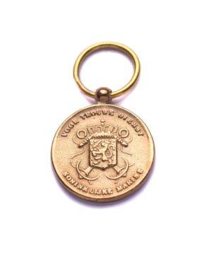 """Miniatuur Trouwe Dienst medaille """"goud"""" Marine"""