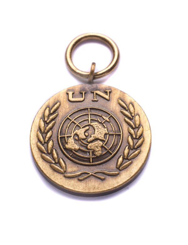 miniatuur UN medaille
