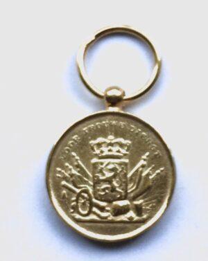 """Miniatuur Trouwe Dienst medaille """"goud"""" KL KLU"""