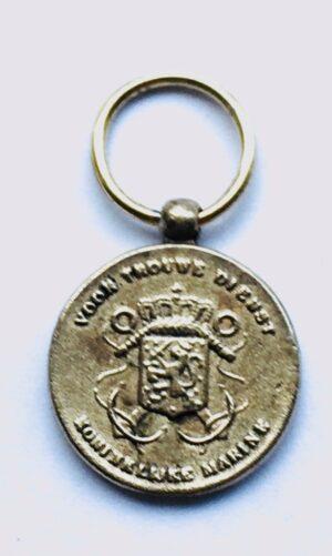 Miniatuur Trouwe Dienst medaille brons Marine