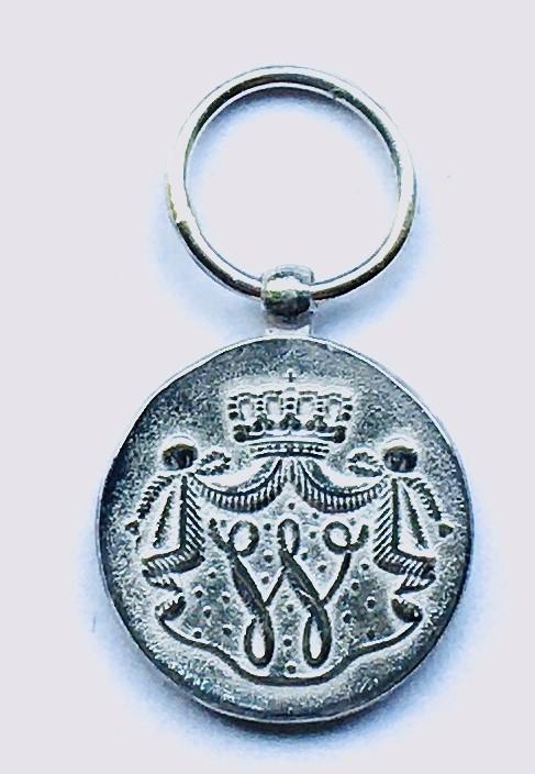 Miniatuur Trouwe Dienst medaille zilver Marine